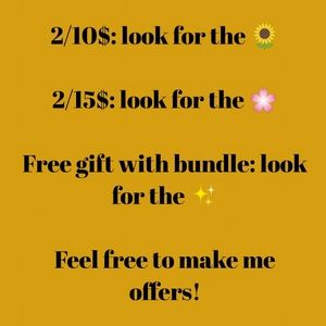 Sales and free gifts!